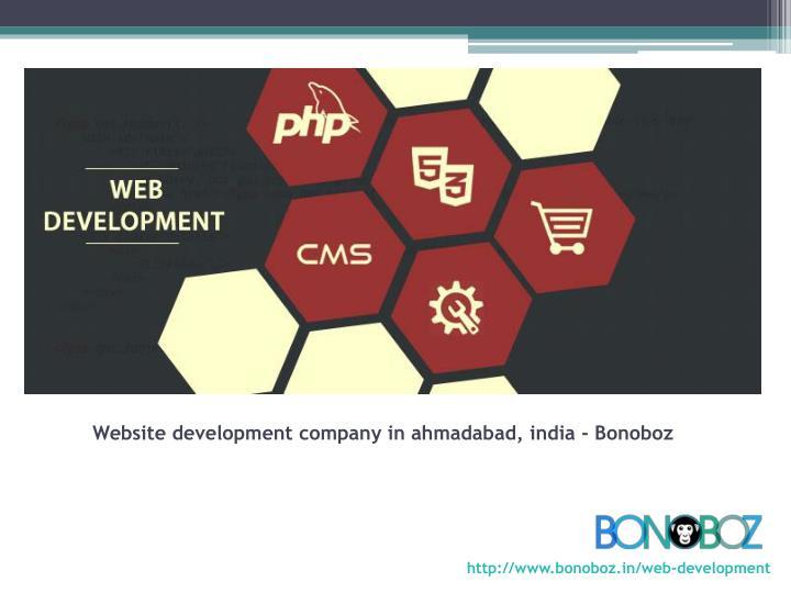 Website development company in ahmadabad, india - Bonoboz