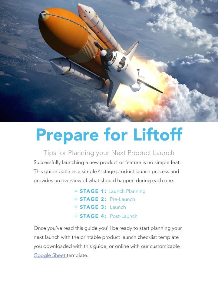 Prepare for Liftoff