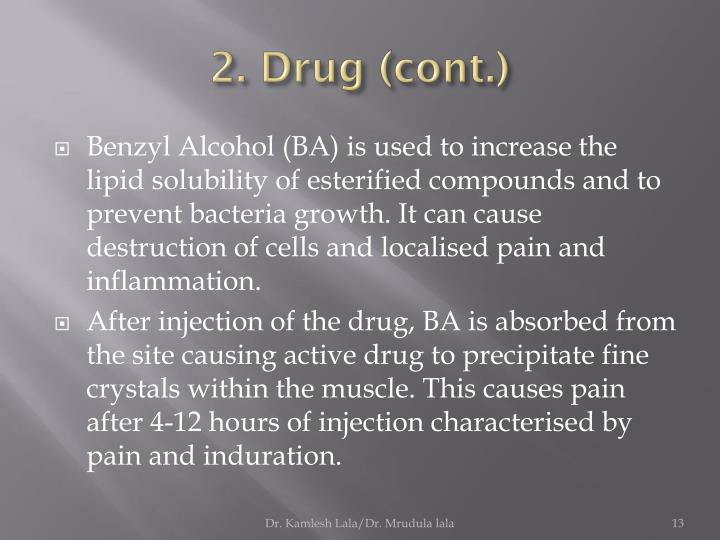 2. Drug (cont.)