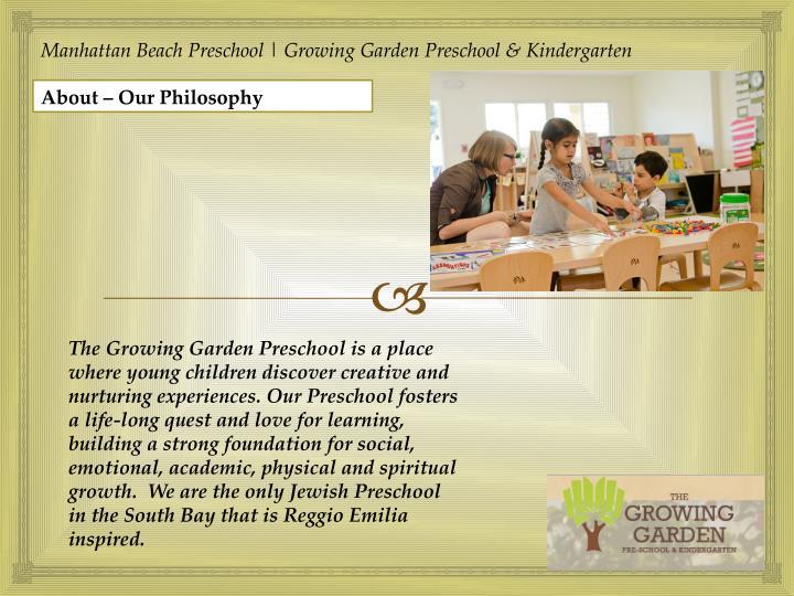 Manhattan Beach Preschool | Growing Garden Preschool & Kindergarten