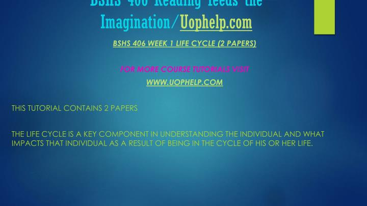 Bshs 406 reading feeds the imagination uophelp com2