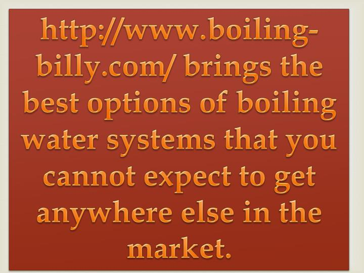 http://www.boiling-billy.com/ brings the best options of boiling water systems that you cannot expect to get anywhere else in the market.