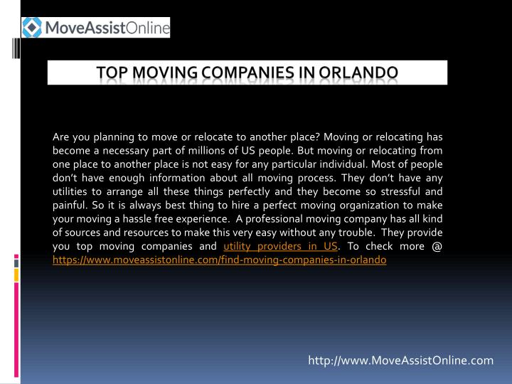 Top moving companies in orlando
