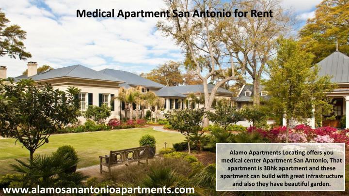 Medical Apartment San Antonio for Rent