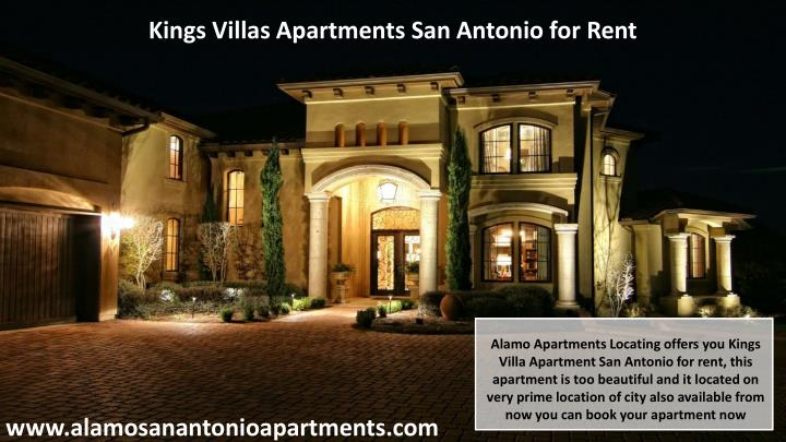 Kings Villas Apartments San Antonio for Rent