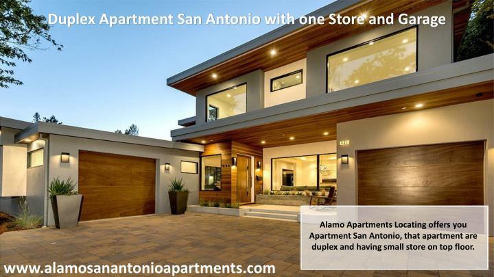 Duplex Apartment San Antonio with one Store and Garage