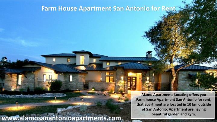 Farm House Apartment San Antonio for Rent