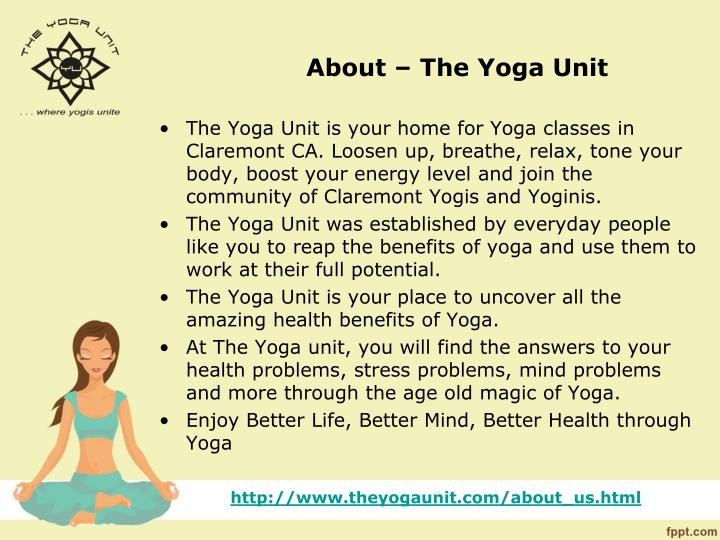 About the yoga unit
