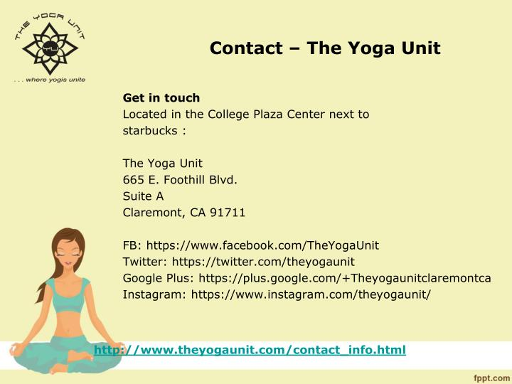 Contact – The Yoga Unit