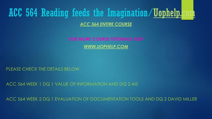 Acc 564 reading feeds the imagination uophelp com1