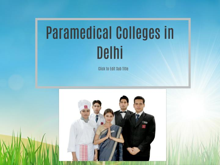 Paramedical Colleges in