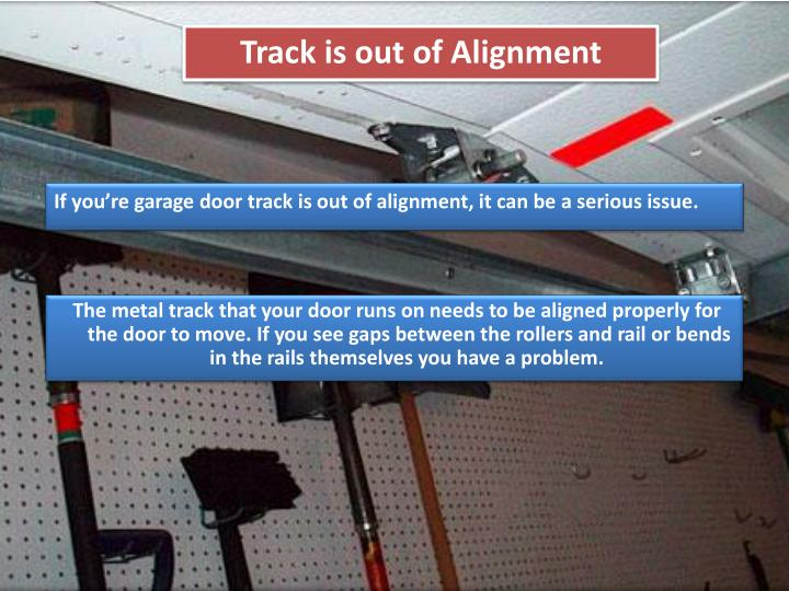 Ppt some important reasons your garage door won t work for Garage door alignment