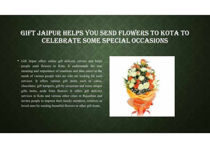 GIFT JAIPUR HELPS YOU SEND FLOWERS TO KOTA TO