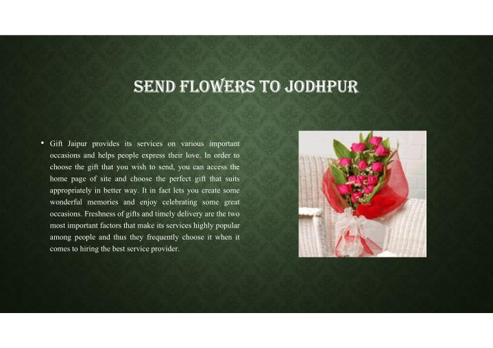 SEND FLOWERS TO JODHPUR