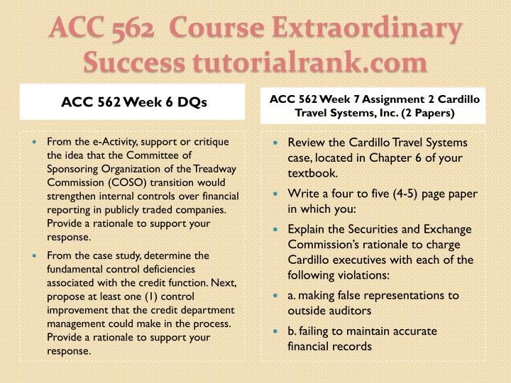 ACC 562 Week 6 DQs