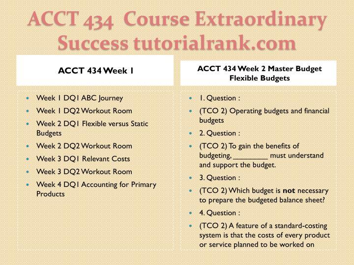 ACCT 434 Week 1