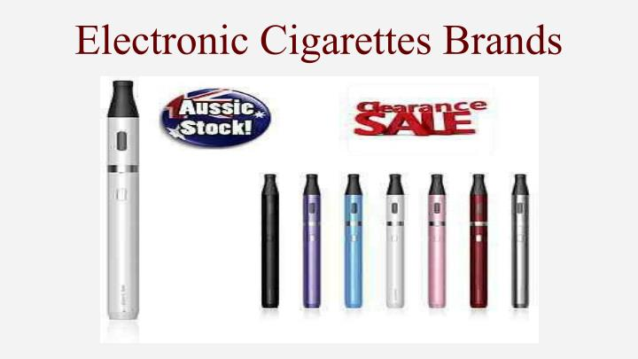 Electronic Cigarettes Brands