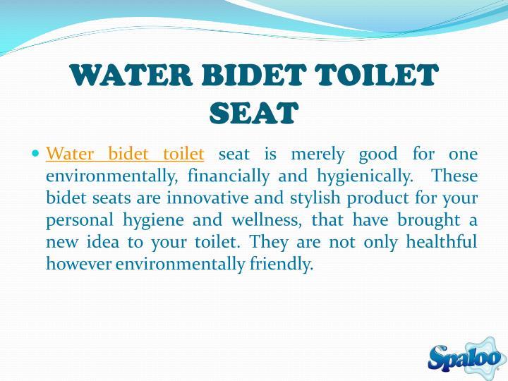 WATER BIDET TOILET SEAT