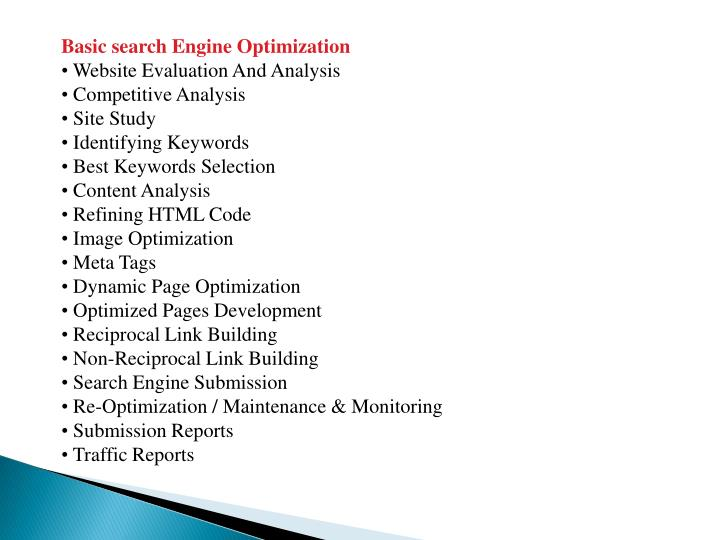 Basic search Engine Optimization
