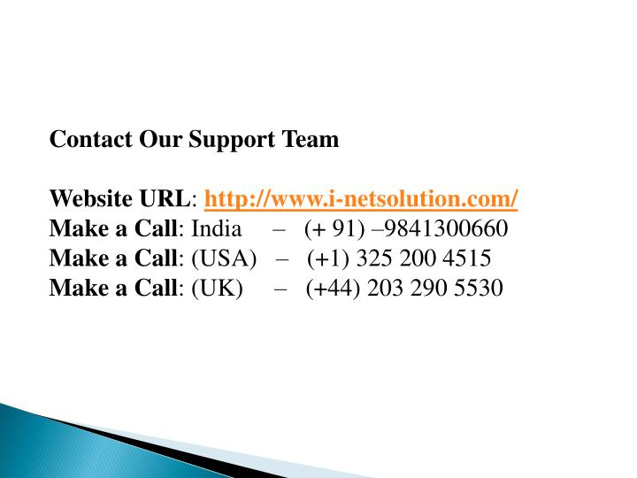 Contact Our Support Team