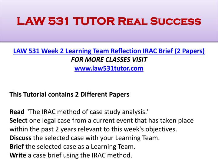 what is irac method in law