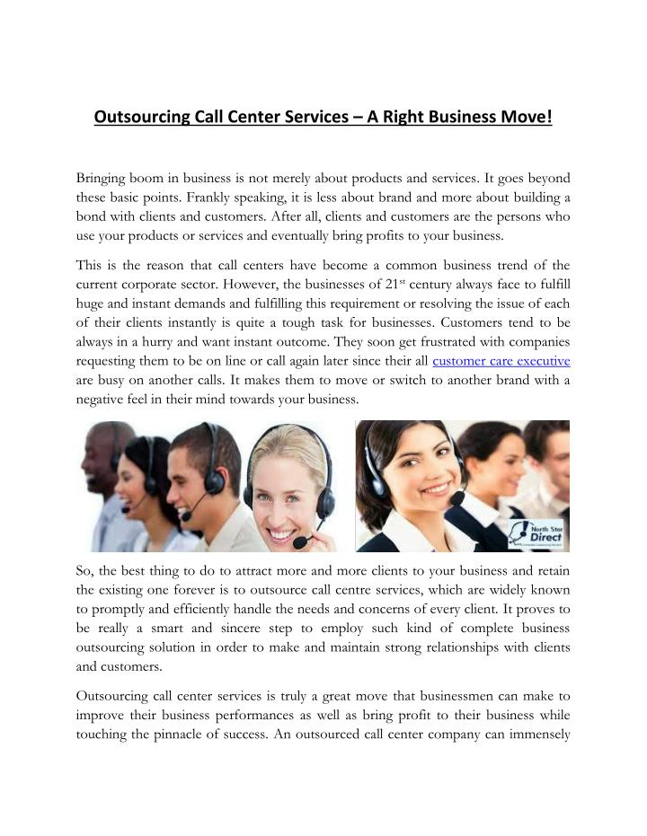 Outsourcing Call Center Services