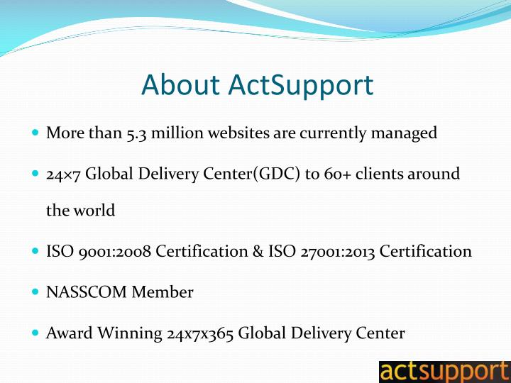 About actsupport