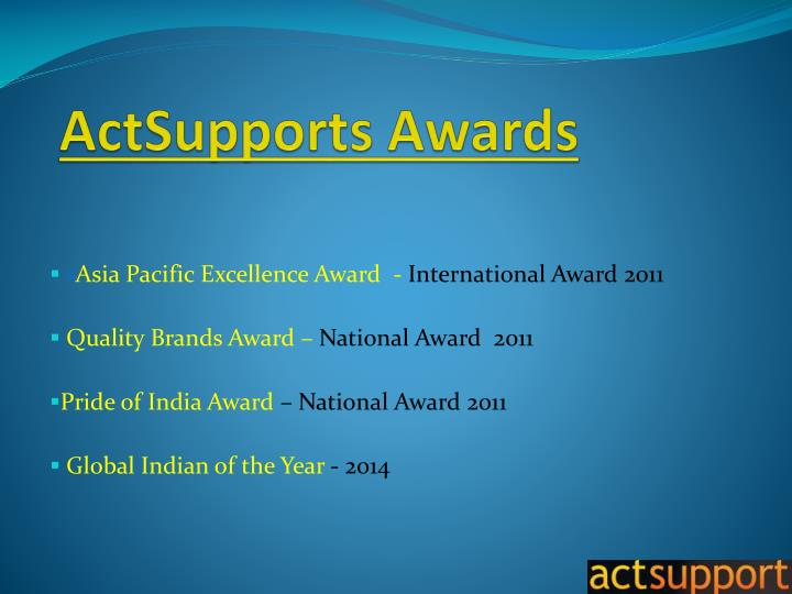 Actsupports awards