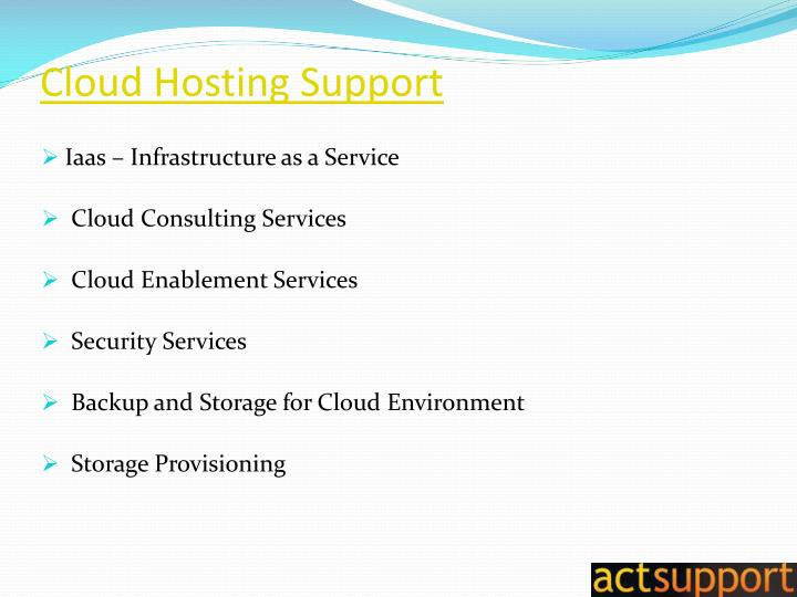 Cloud Hosting Support