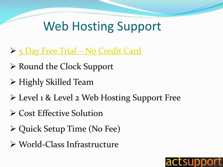 Web Hosting Support