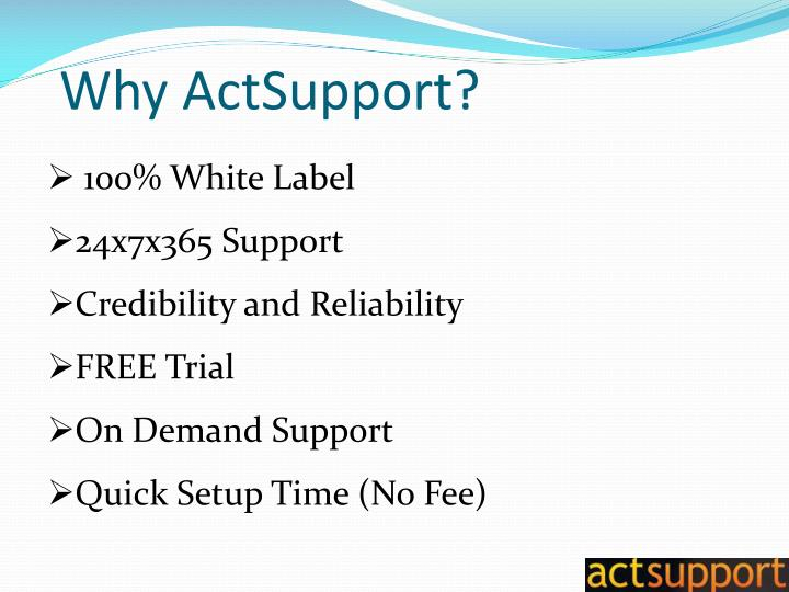 Why ActSupport?