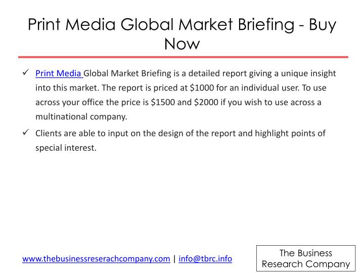 Print Media Global Market Briefing