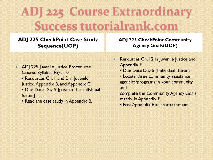 ADJ 225 CheckPoint Case Study Sequence(UOP)