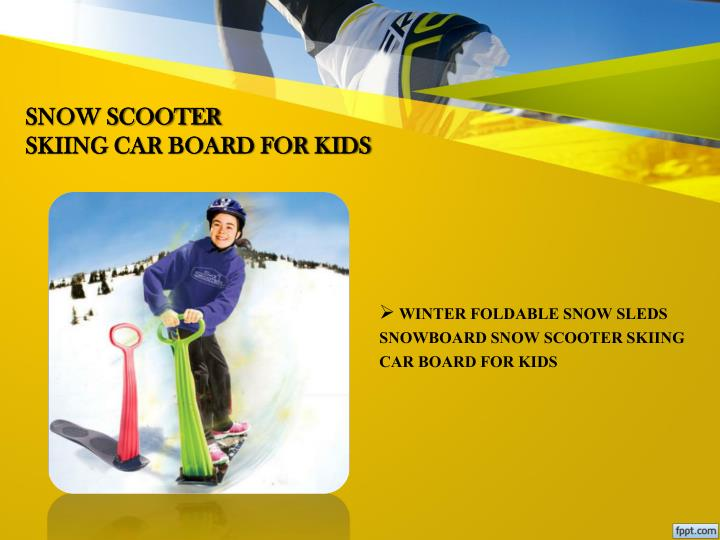 Snow scooter skiing car board for kids