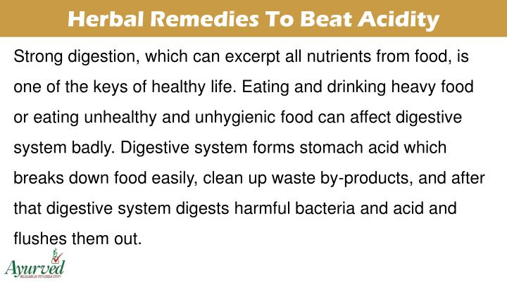 Herbal Remedies To Beat Acidity