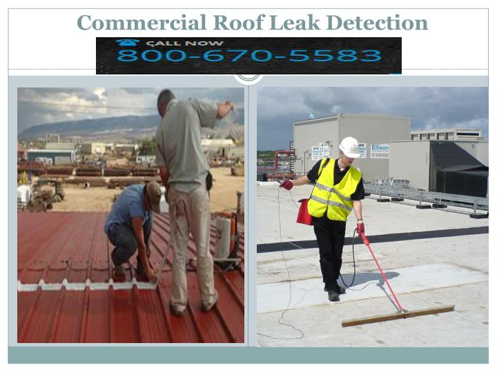 Commercial Roof Leak Detection