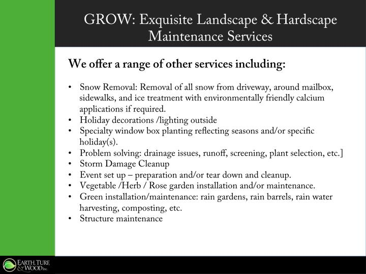 GROW: Exquisite Landscape & Hardscape