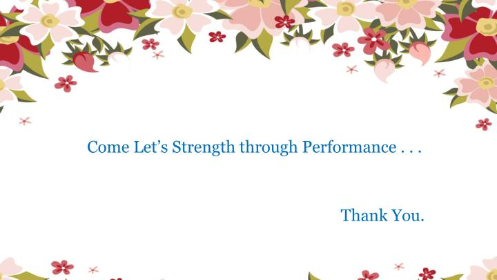 Come Let's Strength through