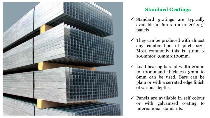 Standard Gratings