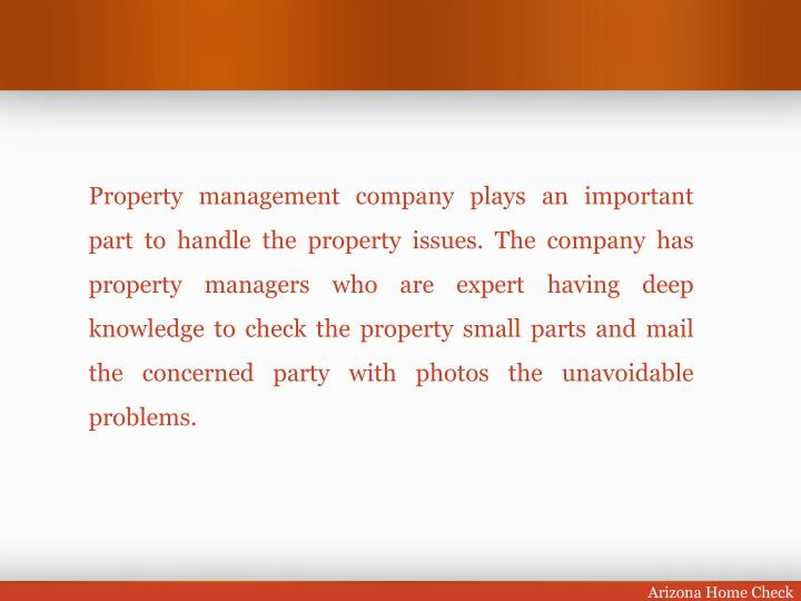 Property management company plays an important