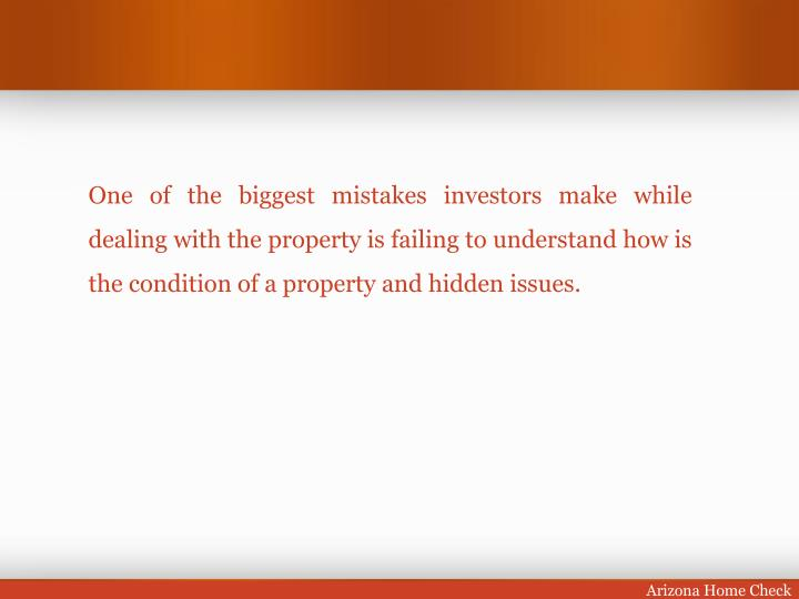 One of the biggest mistakes investors make while