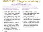 mgmt 520 slingshot academy mgmt520rank com6