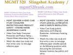 mgmt 520 slingshot academy mgmt520rank com8