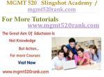 mgmt 520 slingshot academy mgmt520rank com9