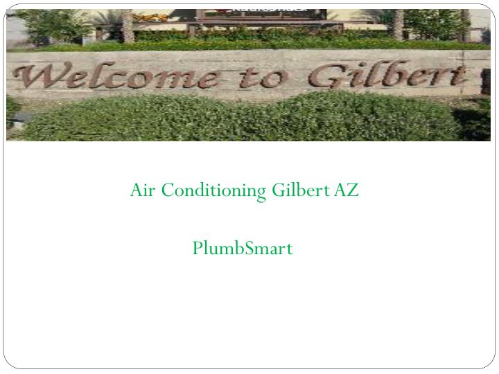 Air Conditioning Gilbert AZ