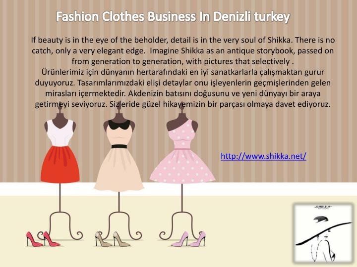 Fashion Clothes Business In
