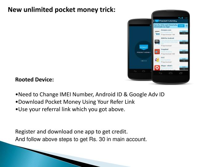 New unlimited pocket money trick: