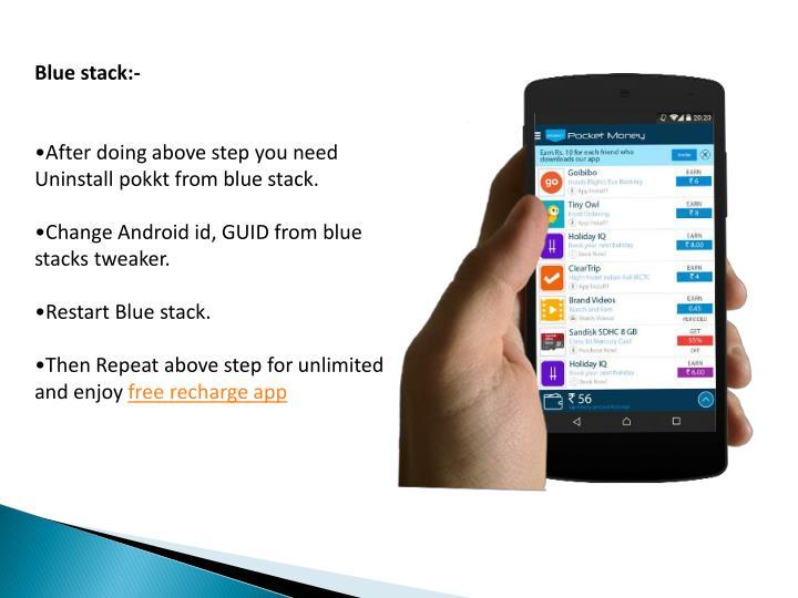 Blue stack:-