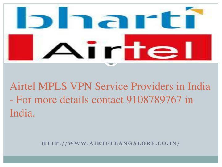 Airtel mpls vpn services
