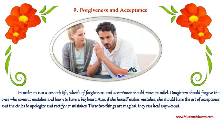 9. Forgiveness and Acceptance